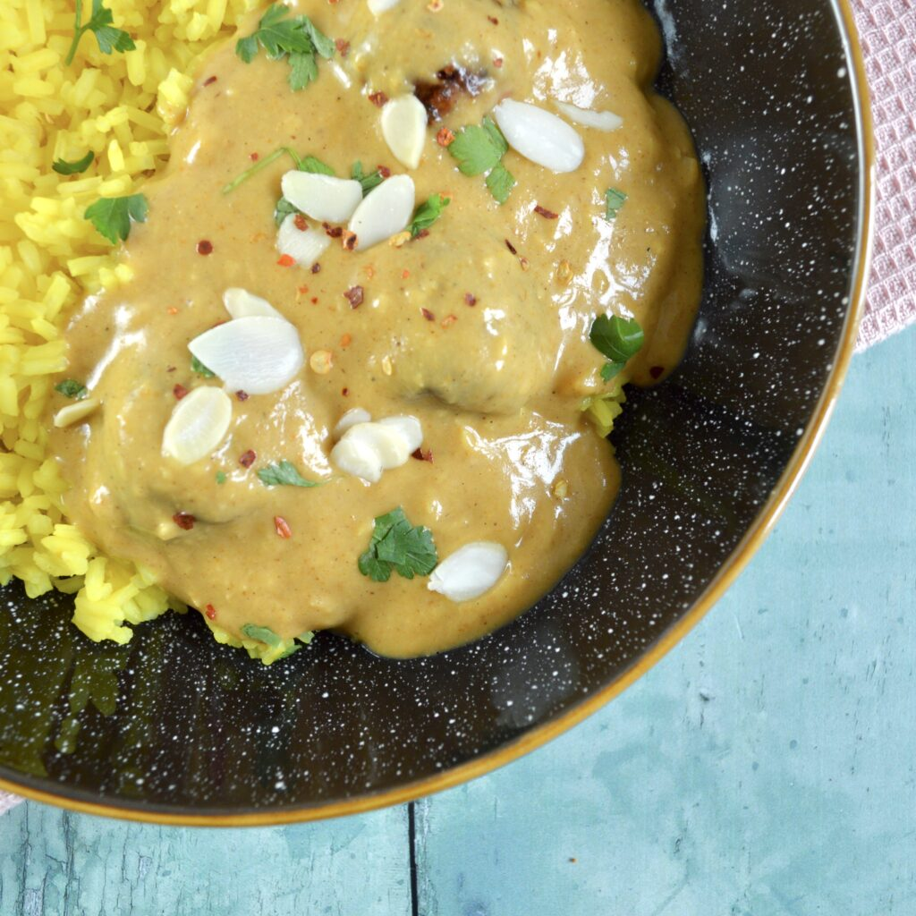 coconut curry with chicken meatballs